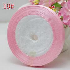 "Free Shipping NEW 3/8"" 10mm 25yard Craft Satin Ribbon Wedding pink colour"