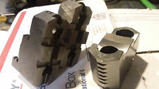 """Unused set of Bison bolt on hard top jaws for 6 1/4"""" three jaw manual chuck."""