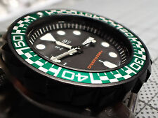 THE.STREETRACER -ROLEX GREEN - MOD/CUSTOM BEZEL INSERT WITH LUMINOUS BALL Z-07-G