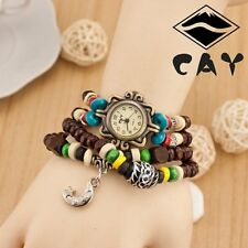 New Women Charm Ladies Bracelet Beads Analog Casual Handmade Quartz Wrist Watch