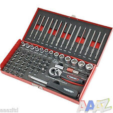 74pc Security Power Bit & Socket Set in Metal Case. Ratchet, Bits & Driver Kit