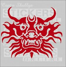 CHINESE DRAGON HEAD DECAL 180x150mm Captn Skullys Stickers Online MPN 1244