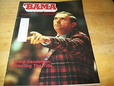 VINTAGE 1981-BAMA-INSIDE THE CRIMSON TIDE-WIMP SANDERSON / FEB VOL 3 ISSUE #2