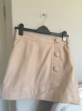 Topshop Leather Skirt 10 Pink Blush Worn Once