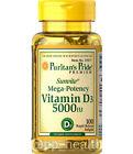 Puritan's Pride Sunvite Maximum Strength Vitamin D (D-3) 5000IU MADEinUSA Unisex