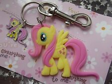 STRONG LARGE KEYRING MY LITTLE PONY FLUTTERSHY  FREINDSHIP IS MAGIC,[ GIFT BAG ,
