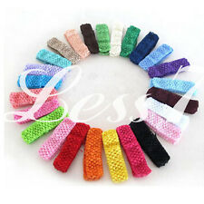 50pcs Lots Baby Women Girl Crochet Elastic Hair Bands Headband  Mixed Colors CA