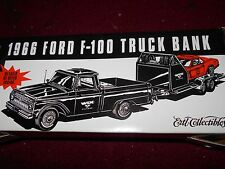 ERTL 1966 FORD F100 F-100 PICKUP TRUCK PROMO DIECAST MODEL BANK NEW IN BOX RARE