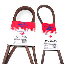 11482 & 11483 Rotary Belt Set Compatible With MTD 754-0467, 754-0468