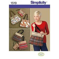 SIMPLICITY SEWING PATTERN BAGS 1519