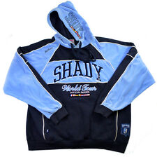 Rare Shady Ltd Hoodie Limited World Tour Mens XL XXL Blue White Velour Pullover
