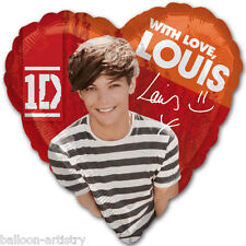 "18"" Official With Love LOUIS TOMLINSON One Direction 1D Party Heart Foil Balloon"