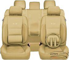 Kunstleder Sitzbezug Schonbezüge Autositzbezüge Opel Astra Corsa Meriva I beige