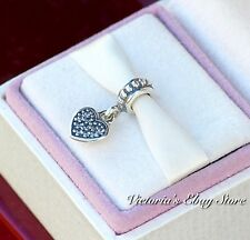 Authentic Pandora Charm Clear Pave Heart Dangle #791023CZ