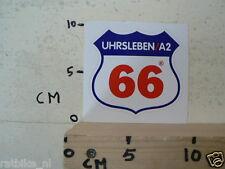 STICKER,DECAL ROUTE 66 UHRSLEBEN A2