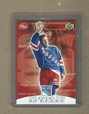 WAYNE GRETZKY COLLECTIBLE POST CEREAL CARD # 6 OF 7 NEW YORK RANGERS 1999