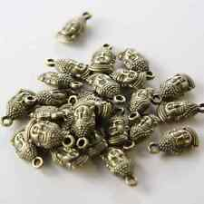 16pcs Antique Brass Tone Base Metal Charms-Buddha Head 16x8mm (14283Y-E-336)