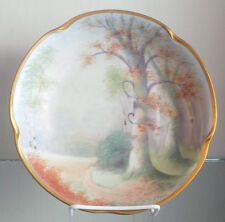 PICKARD HAND PAINTED WOODLAND SCENIC GOLD LINED BOWL CIRCA 1912