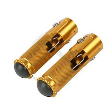 New CNC Folding Foot pegs Footpeg Rear set Racing For Universal Motorcycle Gold