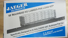 Jaeger 6825 Grand Prairie (Walthers 60 Ft Bulkhead Flat Car) Lumber-Pak Kit HO