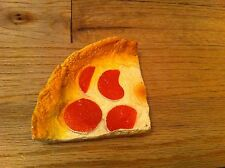 vintage plastic toy pretend play Fake Food Prop Pepperoni Pizza 1988 M.T.C Slice