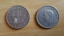 BRITISH HALF CROWN COINS 1947 - 1951 GEORGE Vl 164 coins