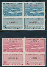 "#RVB1-RVB2 PAIRS ""BOATING STAMPS"" WITH STUBS OG NH CV $165 BR4549"