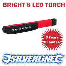 NEW SILVERLINE WATERPROOF 8 LED POCKET PEN STYLE INSPECTION LIGHT / LAMP / TORCH
