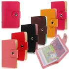 Leather Pocket Business Credit ID Card Holder Case Wallet Purse for 24 Cards