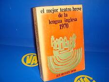 Libro EL MEJOR TEATRO BREVE DE LA LENGUA INGLESA 1970