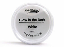 SUPERNAIL GLOW IN THE DARK ACRYLIC NAIL POWDER WHITE 0.5 OZ.