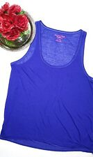 American Eagle Outfitters women's Sparkly royal blue flowy sleeveless tshirt XL