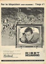 Publicité 1960  RIBET DESJARDINS téléviseurs Tour de France 24H du Mans J.O.