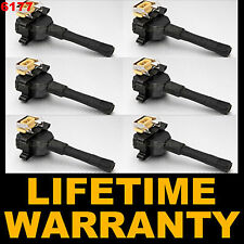 SET OF 6 PCS IGNITION COIL COILS for BMW E36 E34 E30 12139066468