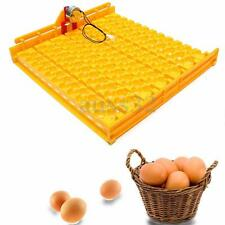 Yellow Incubator Automatic 154 Quail Eggs Turner Tray With 220 Volt Motor Tool