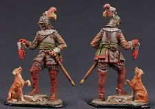 Tin toy soldiers ELITE painted 54 mm  German cavalryman with a dog in 1650