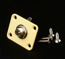 Plastic Plate Guitar Output Jack Socket ,Square /Cream
