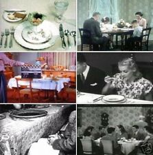 Social And Dining Etiquette Table Manners 1940s to 1950s Vintage Films DVD