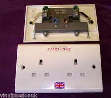 SILVER PLATED UK DOPPIA PARETE Socket Unswitched