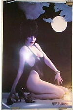 Elvira: Mistress of Dark Moonbathing Pin Up Poster From 1987 NEW UNUSED ROLLED