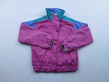 Vtg North Face USA Womens Extreme-Z Gore-Tex Pink Full Zip Fall Jacket Coat Sz 8