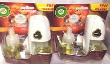 4 AIR WICK Refill Scented Oil & 2 warmer Air Wick Fall Cozy By The Fire refills