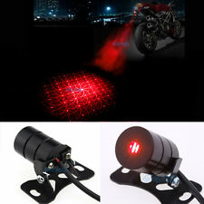 Red Motorcycle Led Laser Rear Fog Light Anti-Collision Brake Tail Warning Lamp