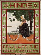 COMMERCIAL ADVERT BICYCLE AMSTERDAM NETHERLANDS POSTER ART PRINT PICTURE BB1693A