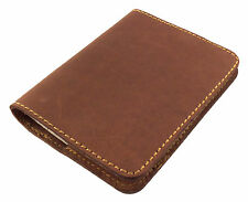 REFILLABLE Leather Mini Composition Book Cover Pocket Notebook Notepad GENUINE