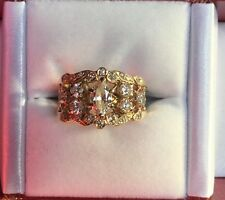 Vintage Estate 14Kt Yellow Gold Marquise Diamond Ring