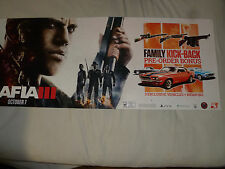 LARGE MAFIA III STORE PROMO SIGN BANNER PS4 XBOX ONE PC OCTOBER 7 2016