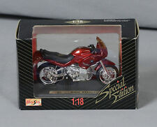 MAISTO 1:18 Die Cast Special Edition Red BMW R1100RS Motorcycle