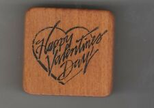 "Co-motion Rubber stamp ""Happy Valentines Day"" used hard to find"