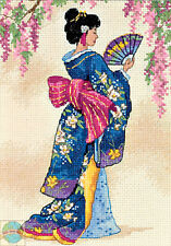 Cross Stitch Kit Gold Collection Elegant Geisha Asian Oriental Woman #6953